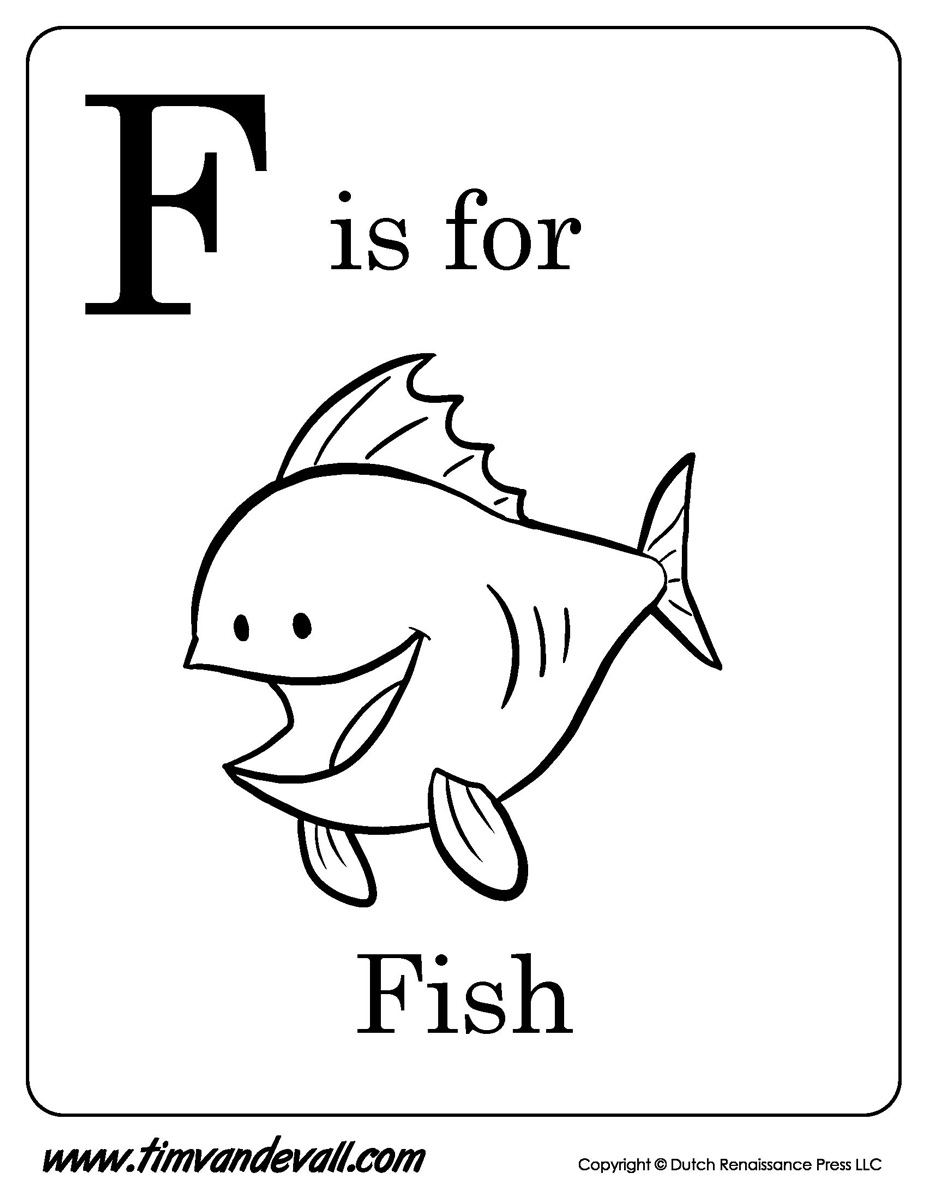 f 22 coloring page f is for fish printable tim39s printables coloring 22 f page