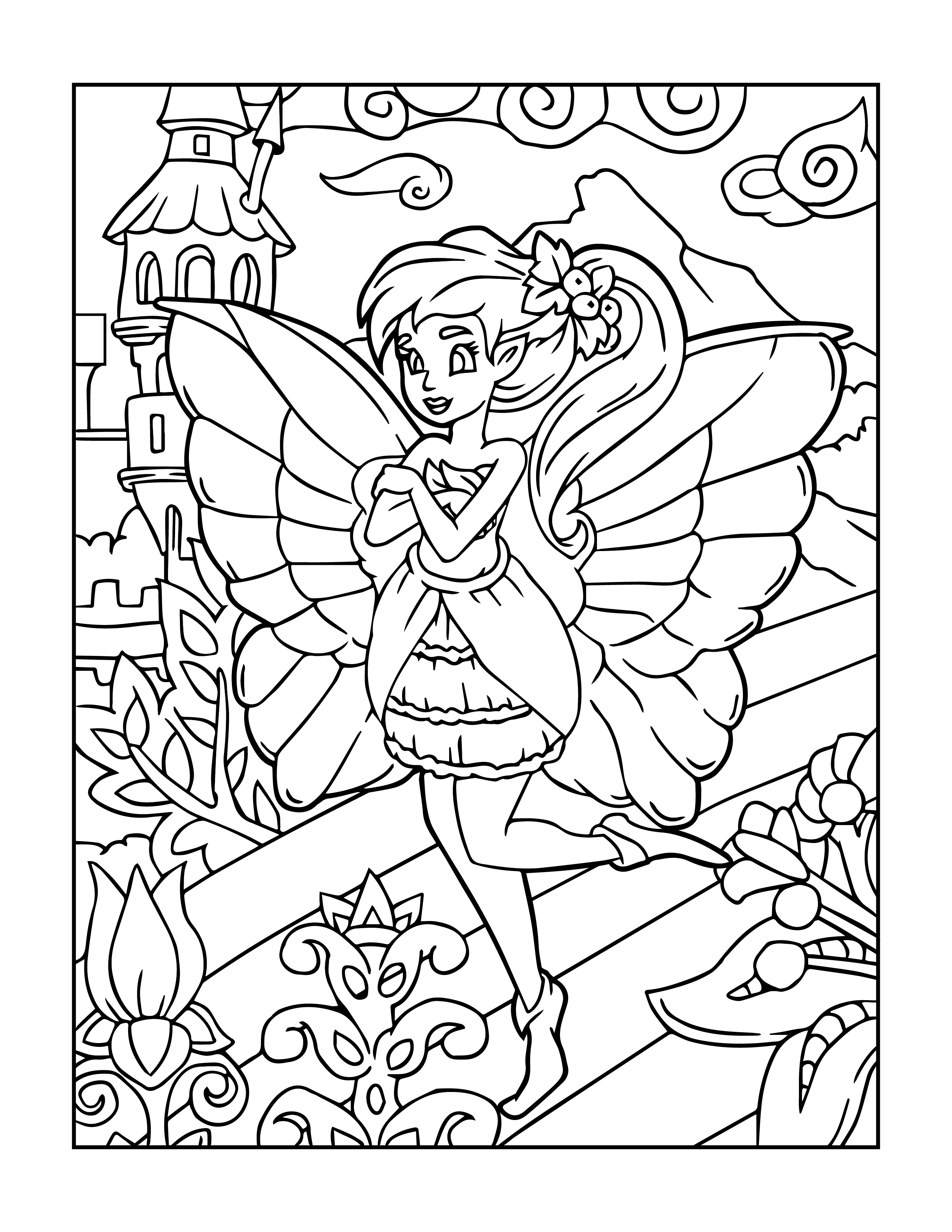 fairy coloring coloring pages fairies free printable coloring pages free fairy coloring