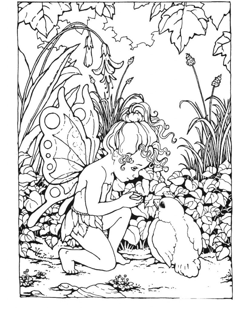 fairy coloring cute beautiful fairy coloring pages updated pdf fairy coloring