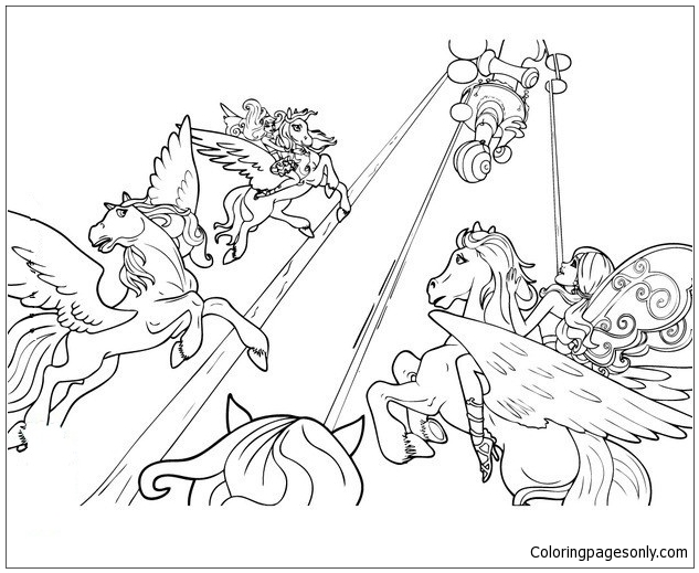 fairy horse coloring pages a fairy riding a unicorn fairy pages coloring horse