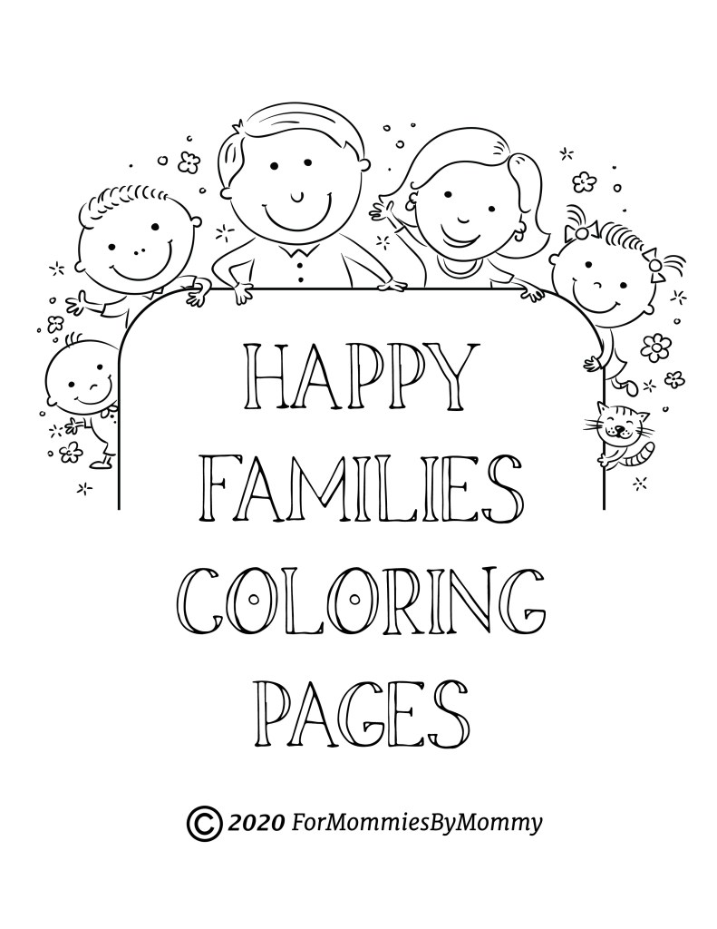 family coloring sheets free printable happy family coloring pages for kids sheets coloring family