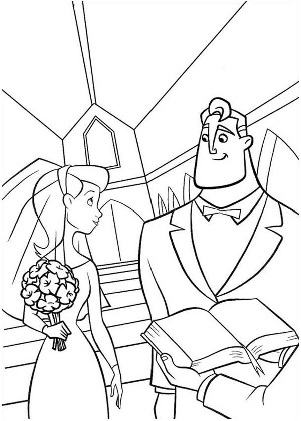 family incredibles 2 coloring pages mr incredibles marrying elastigirl in the incredibles incredibles family coloring pages 2