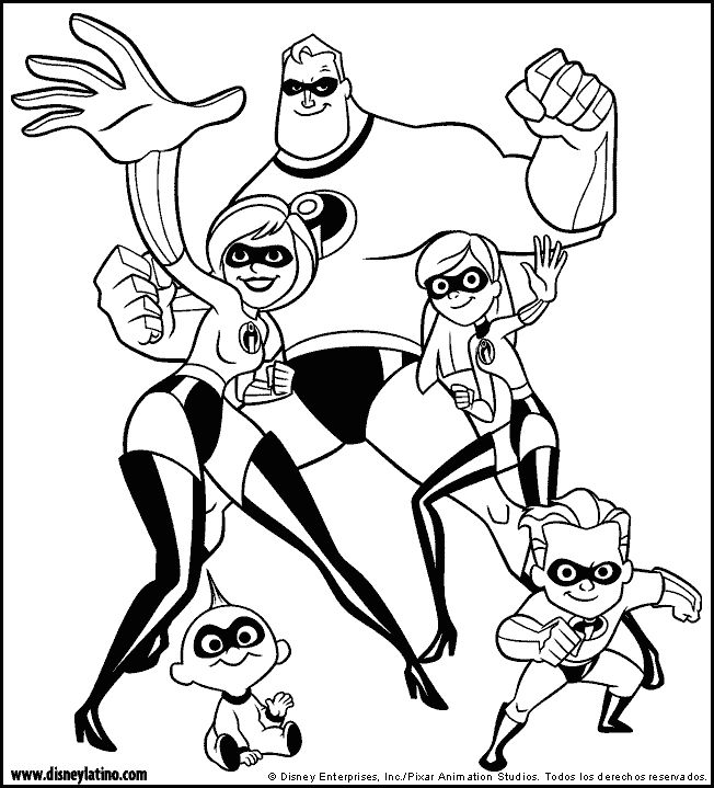 family incredibles 2 coloring pages the incredibles color page disney coloring pages color pages 2 incredibles family coloring