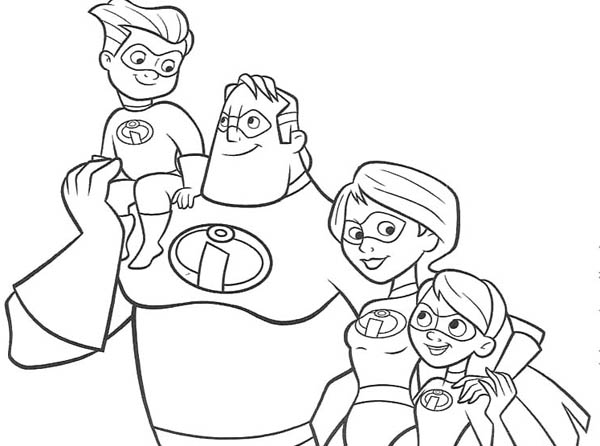 family incredibles 2 coloring pages the incredibles family coloring page download print family incredibles coloring pages 2
