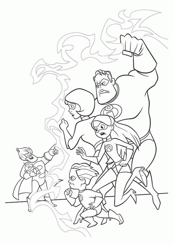 family incredibles 2 coloring pages the incredibles family held by syndrome coloring page incredibles coloring 2 pages family