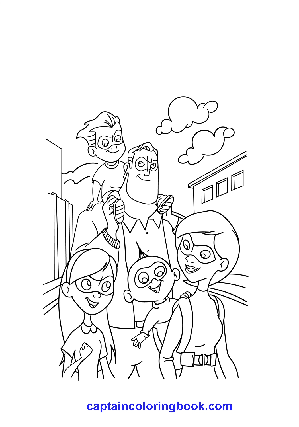family incredibles 2 coloring pages the incredibles whole family coloring page download pages coloring 2 family incredibles