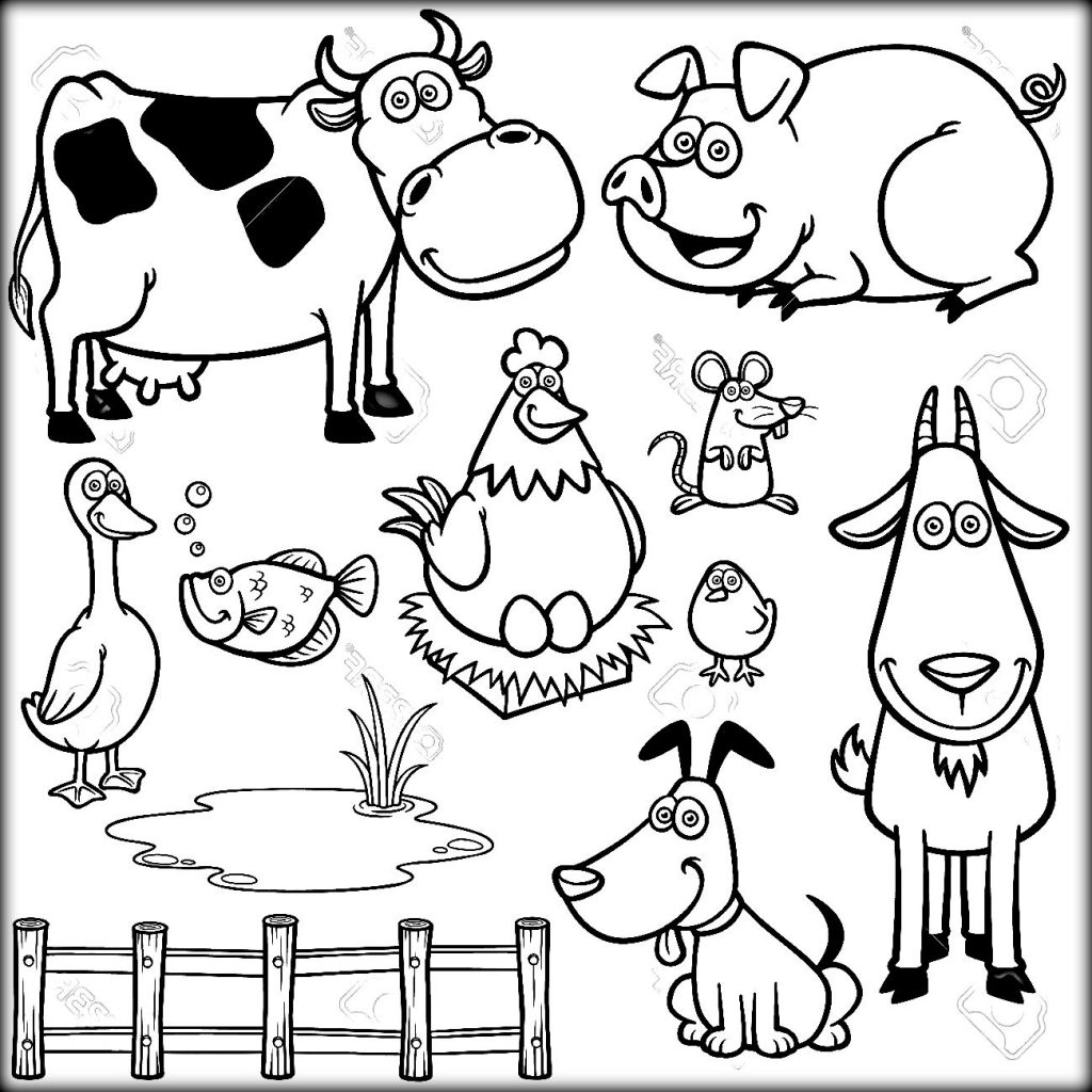 farm animals for coloring barnyard animals coloring pages at getdrawings free download for animals farm coloring