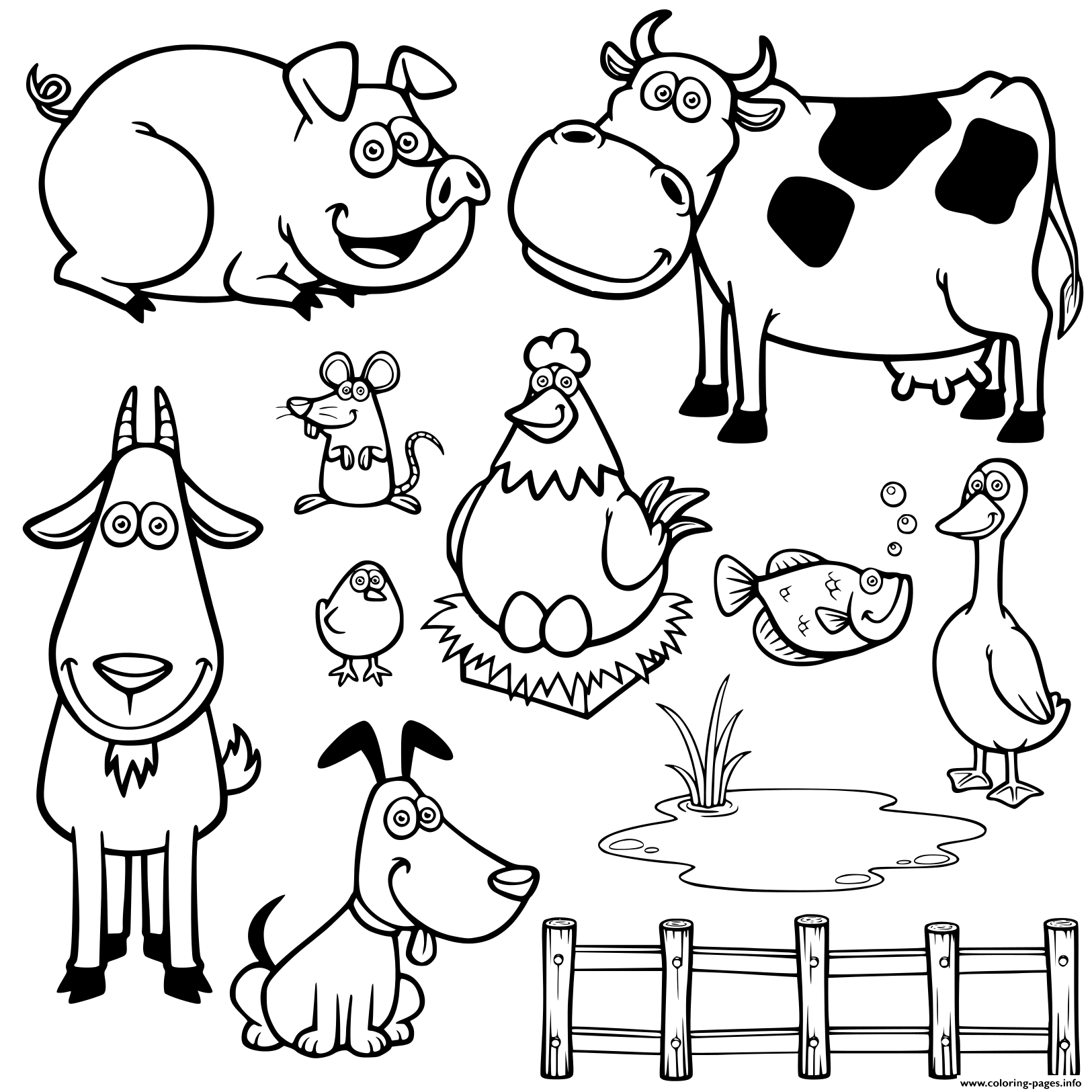 farm animals for coloring craftsactvities and worksheets for preschooltoddler and animals farm coloring for