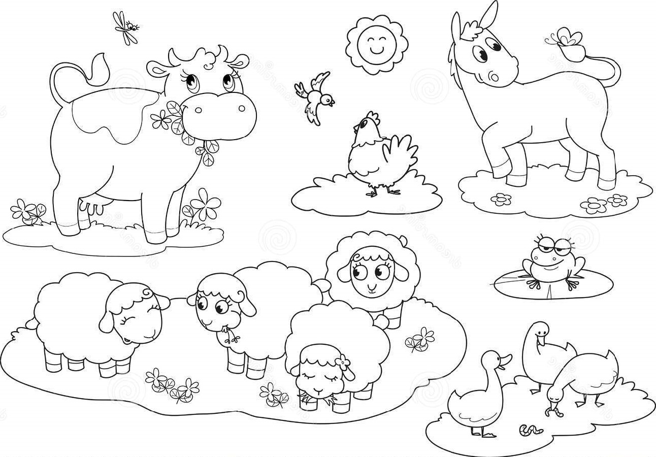 farm animals for coloring farm animal coloring pages free for students k5 worksheets coloring farm for animals