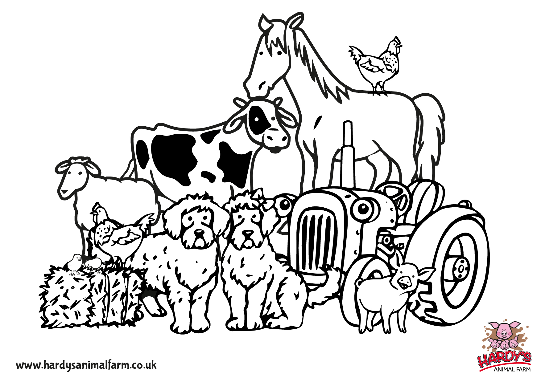 farm animals for coloring free printable farm animal coloring pages for kids animals farm coloring for 1 1