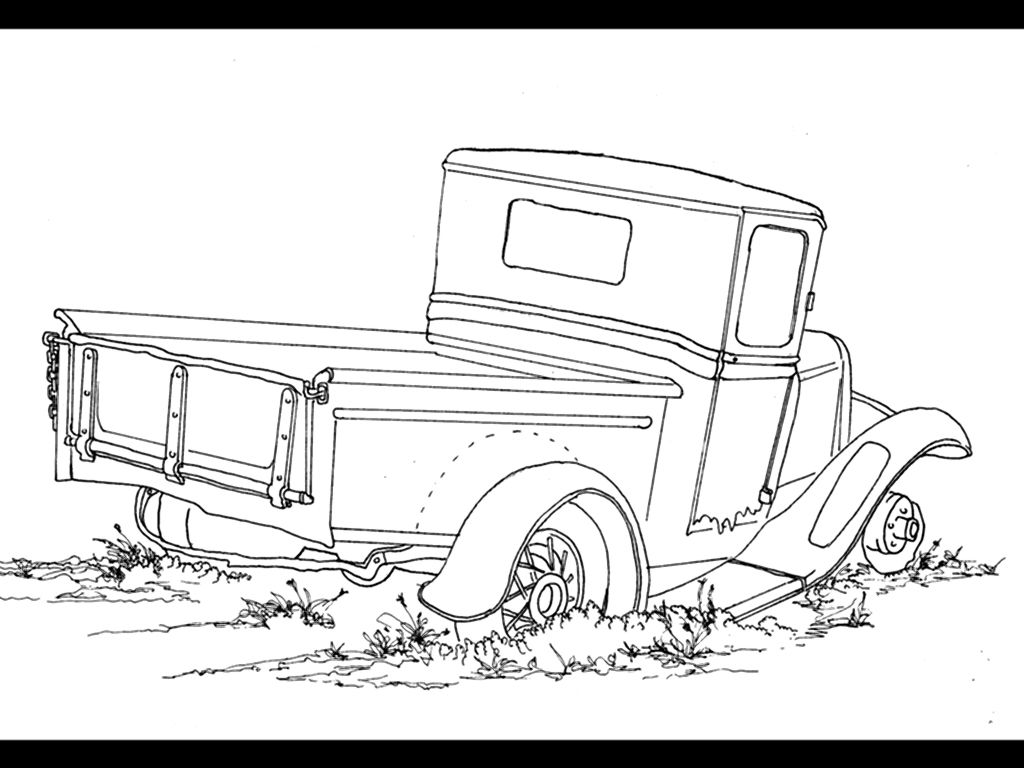 farm truck coloring pages another old pickup this is a single line ink drawing i truck farm coloring pages