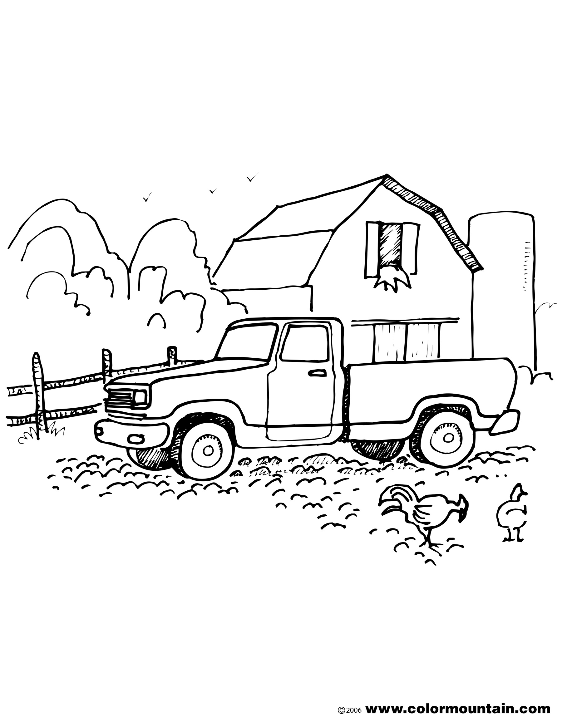 farm truck coloring pages old trucks coloring old american pick up truck pages truck farm coloring