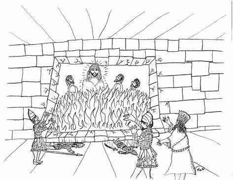 fiery furnace coloring page furnace daniel shadrach kids bedroom clipart black and fiery page furnace coloring