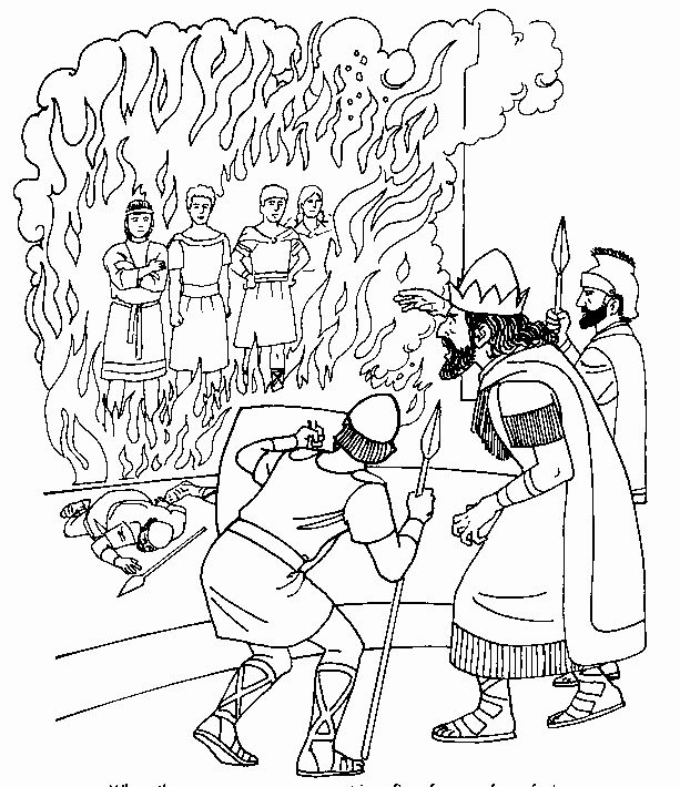 fiery furnace coloring page the fiery furnace coloring page sundayschoolist page furnace fiery coloring