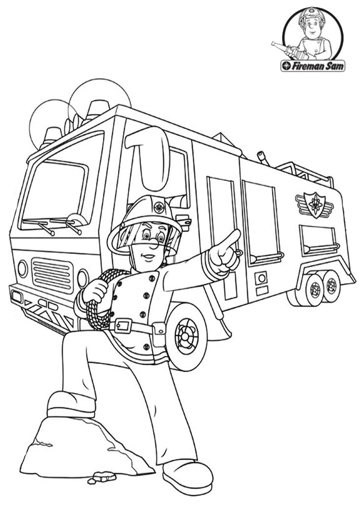 fireman sam coloring pages awesome fireman sam coloring page free printable coloring fireman sam pages