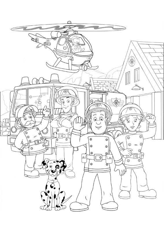 fireman sam coloring pages fire officer using skateboard at fireman sam coloring page pages coloring sam fireman