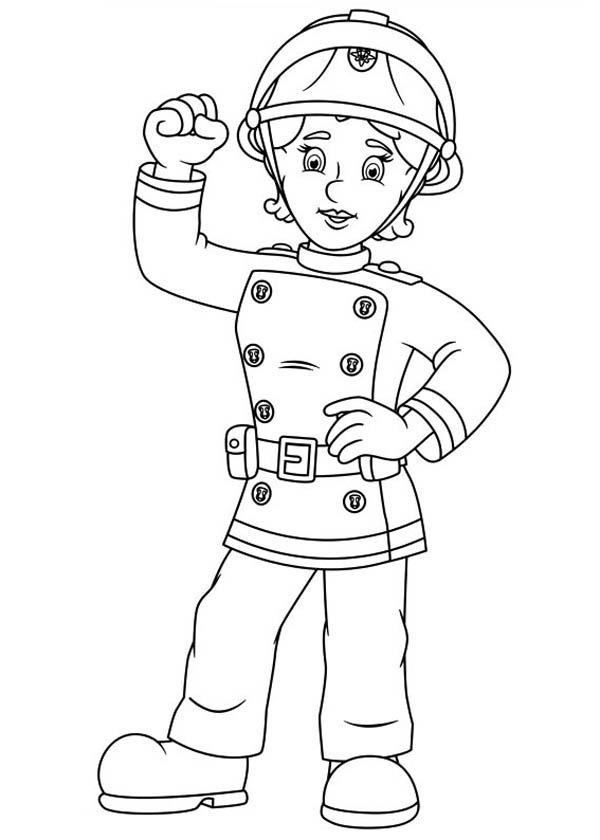 fireman sam coloring pages fireman sam and all fontypandys officer at fire fighting sam fireman coloring pages