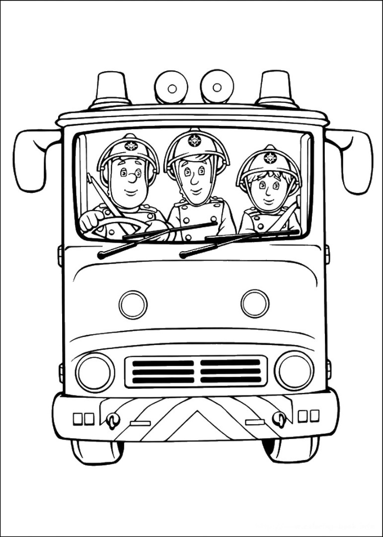 fireman sam coloring pages fireman sam rescueing beautiful cat from tall tree coloring fireman sam pages