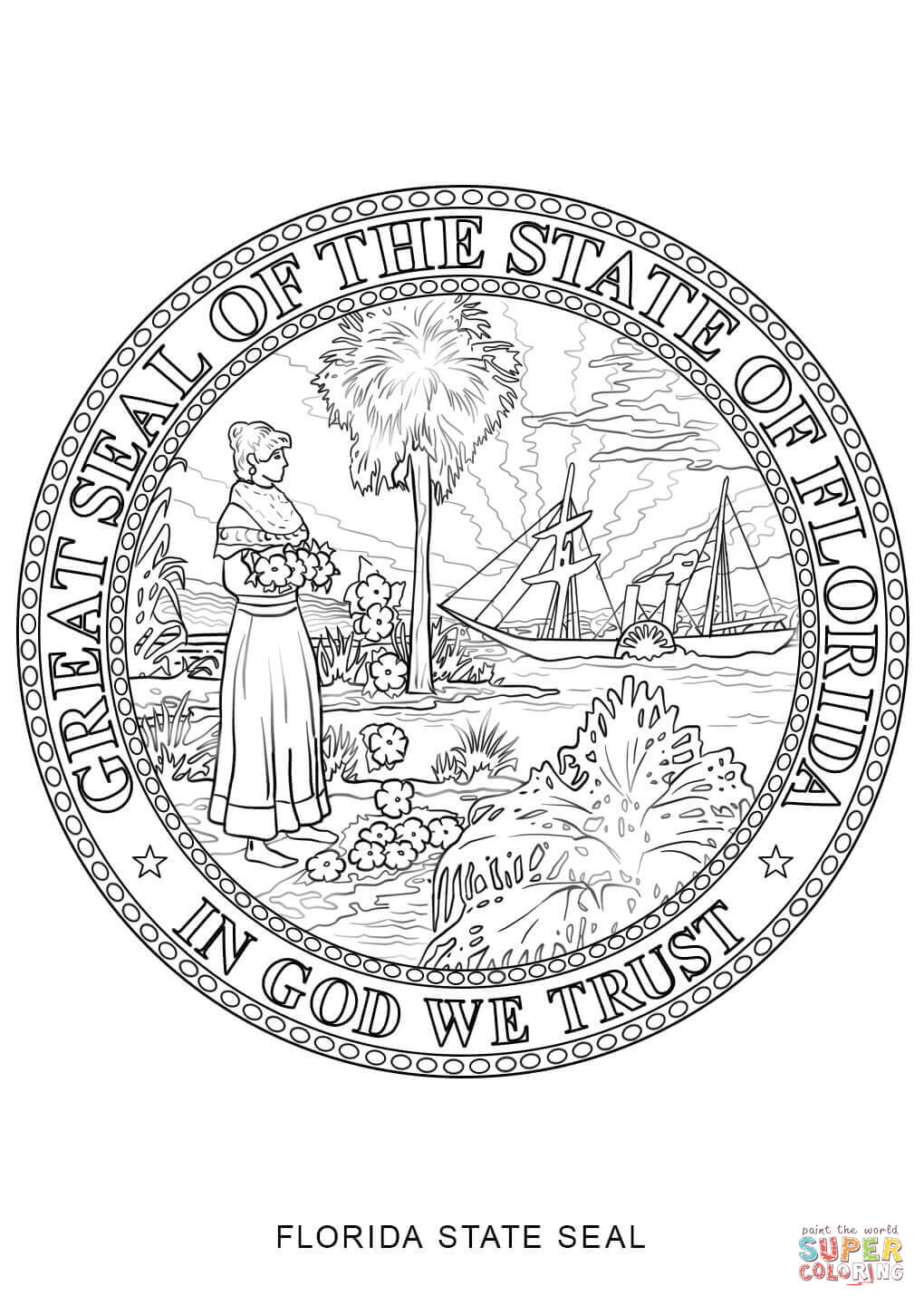 florida state flower florida state symbols coloring page free printable florida state flower