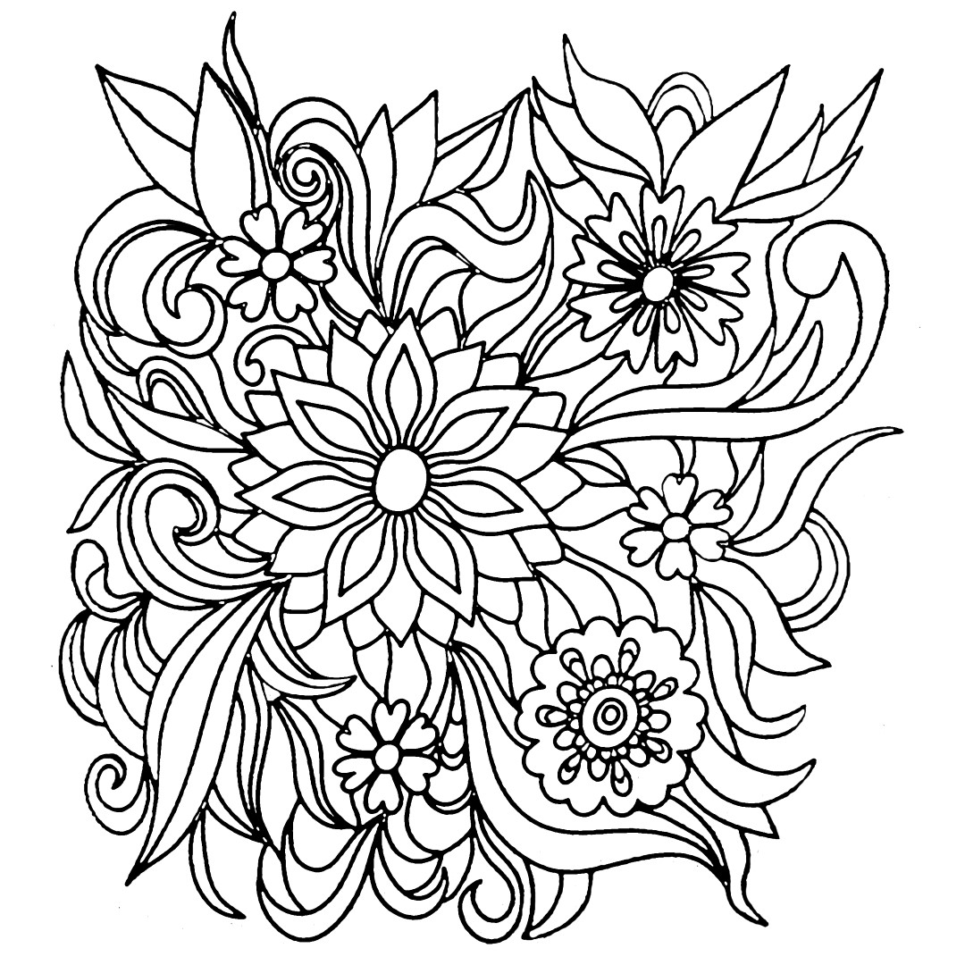 flowers coloring pages printable beautiful printable flowers coloring pages pages flowers printable coloring