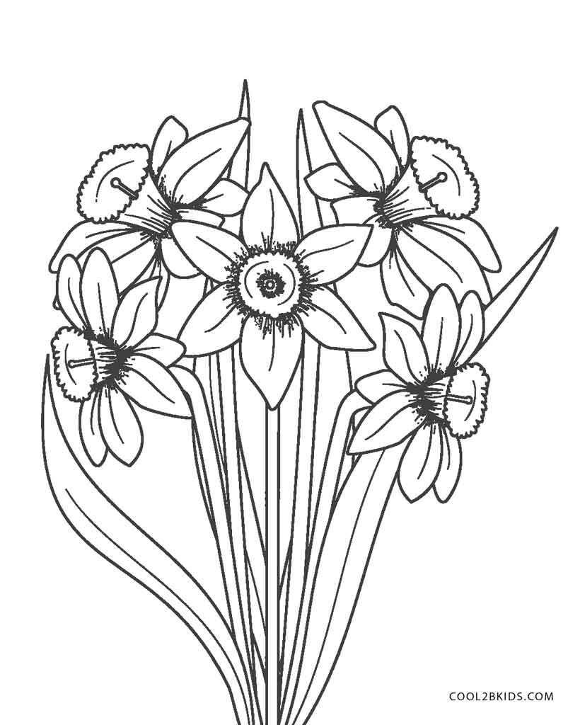 flowers to color and print free printable flower coloring pages for kids best color print flowers to and
