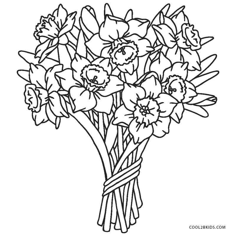 flowers to color and print spring flowers coloring pages printable to print color and flowers