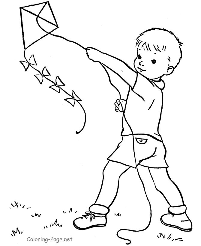 fly a kite coloring a boy flying kites coloring pages a coloring fly kite