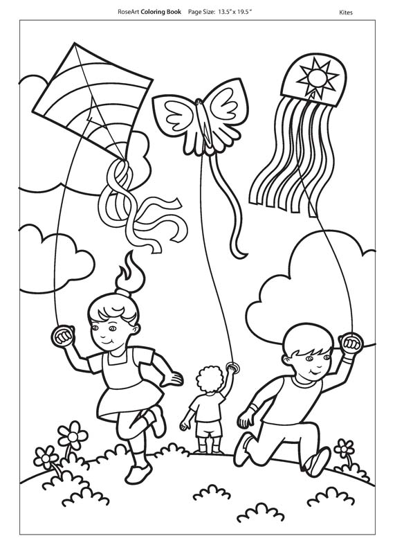 fly a kite coloring arts and crafts activities for kids quality arts crafts a kite fly coloring