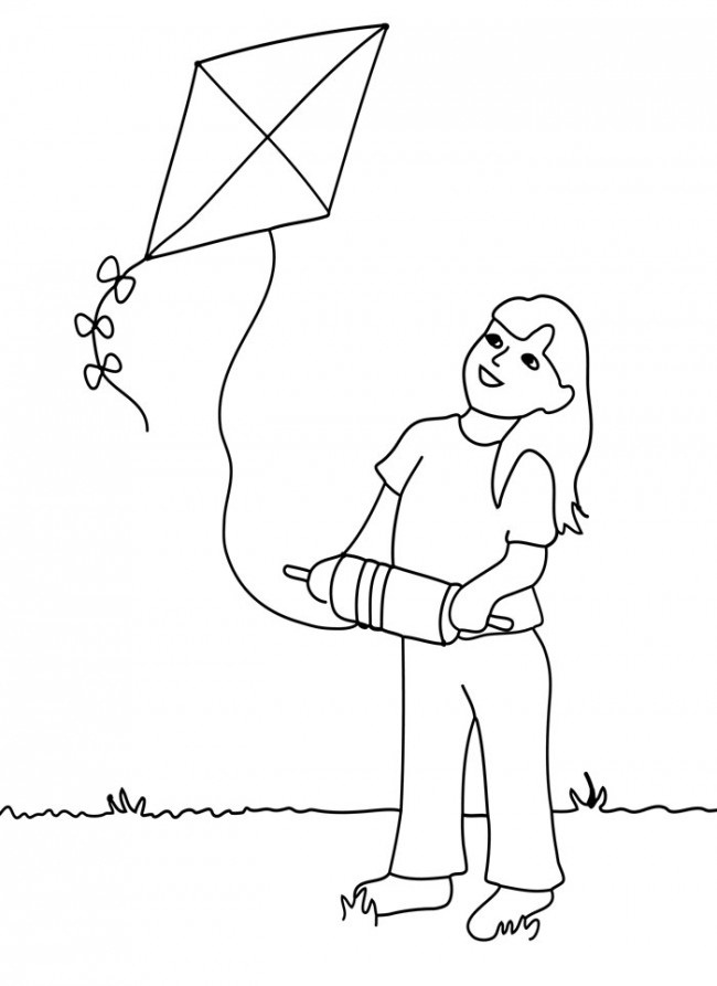 fly a kite coloring children flying kites coloring pages at getdrawings free coloring fly a kite