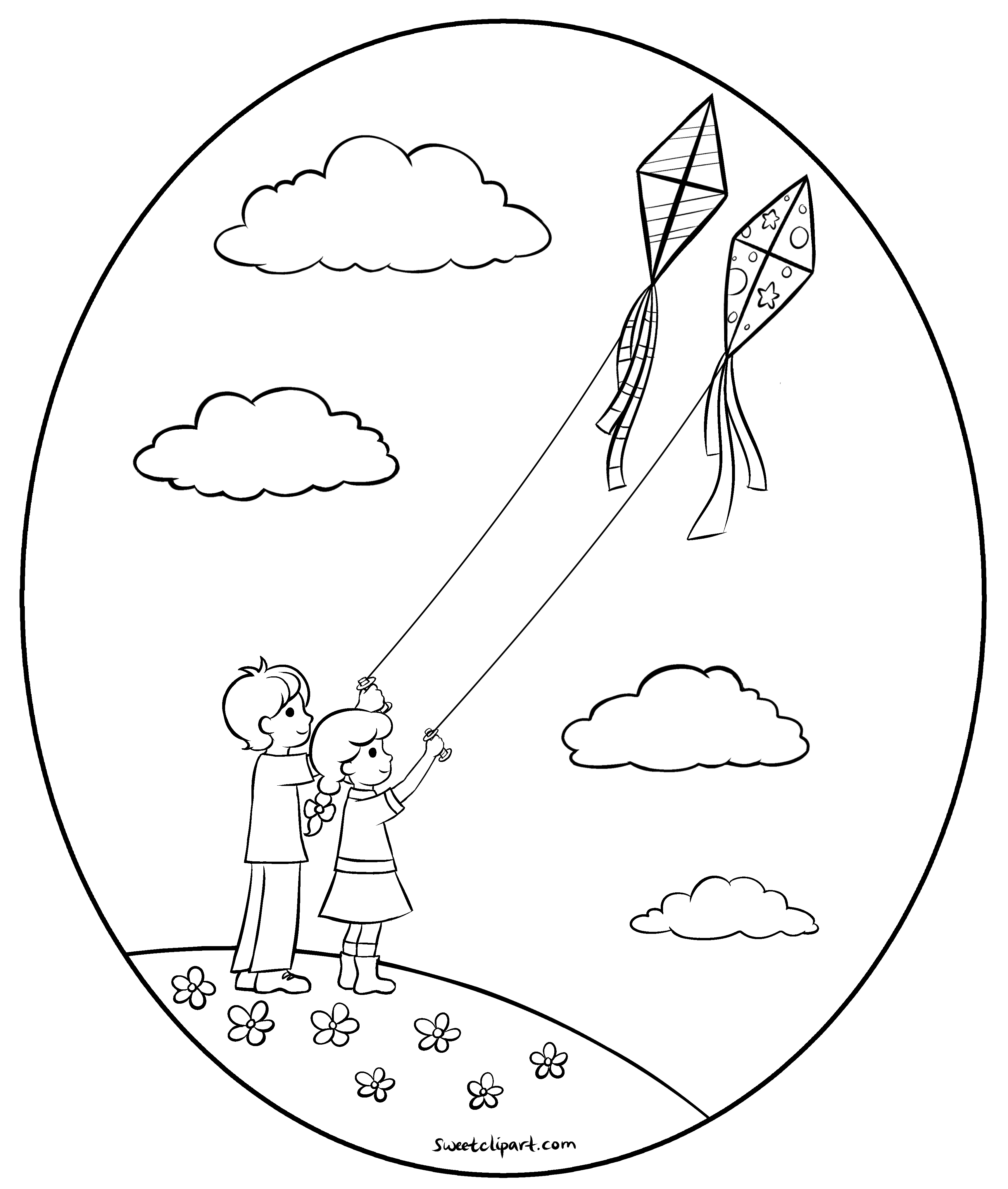 fly a kite coloring flying kite coloring page coloring kite fly a