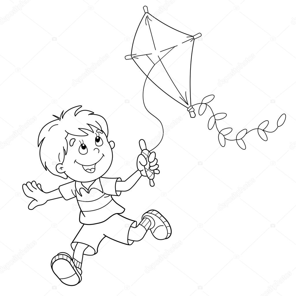 fly a kite coloring kite flying drawing at getdrawings free download a coloring kite fly
