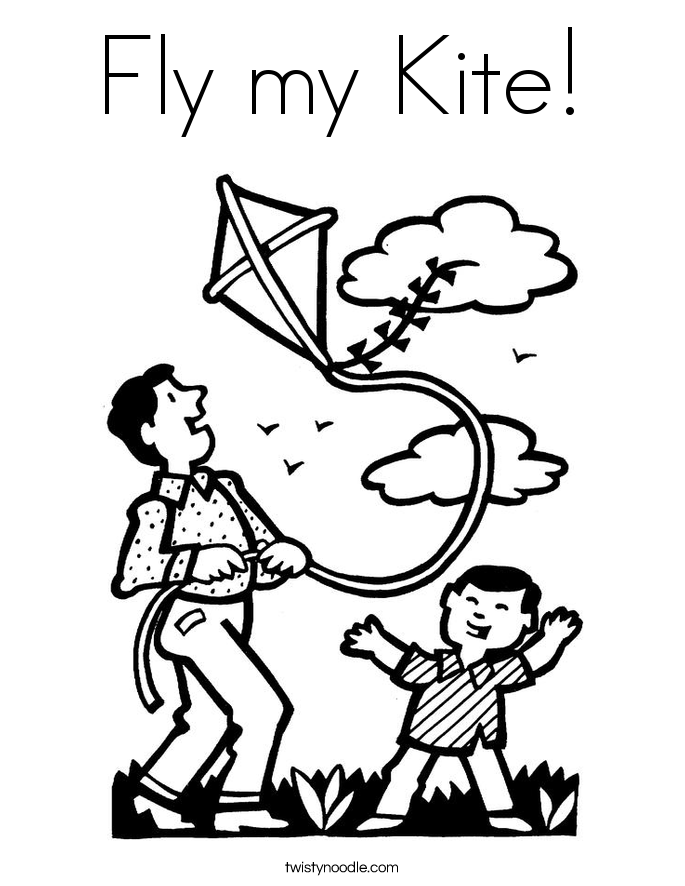 fly a kite coloring raju flying a kite coloring pages download free raju a coloring fly kite