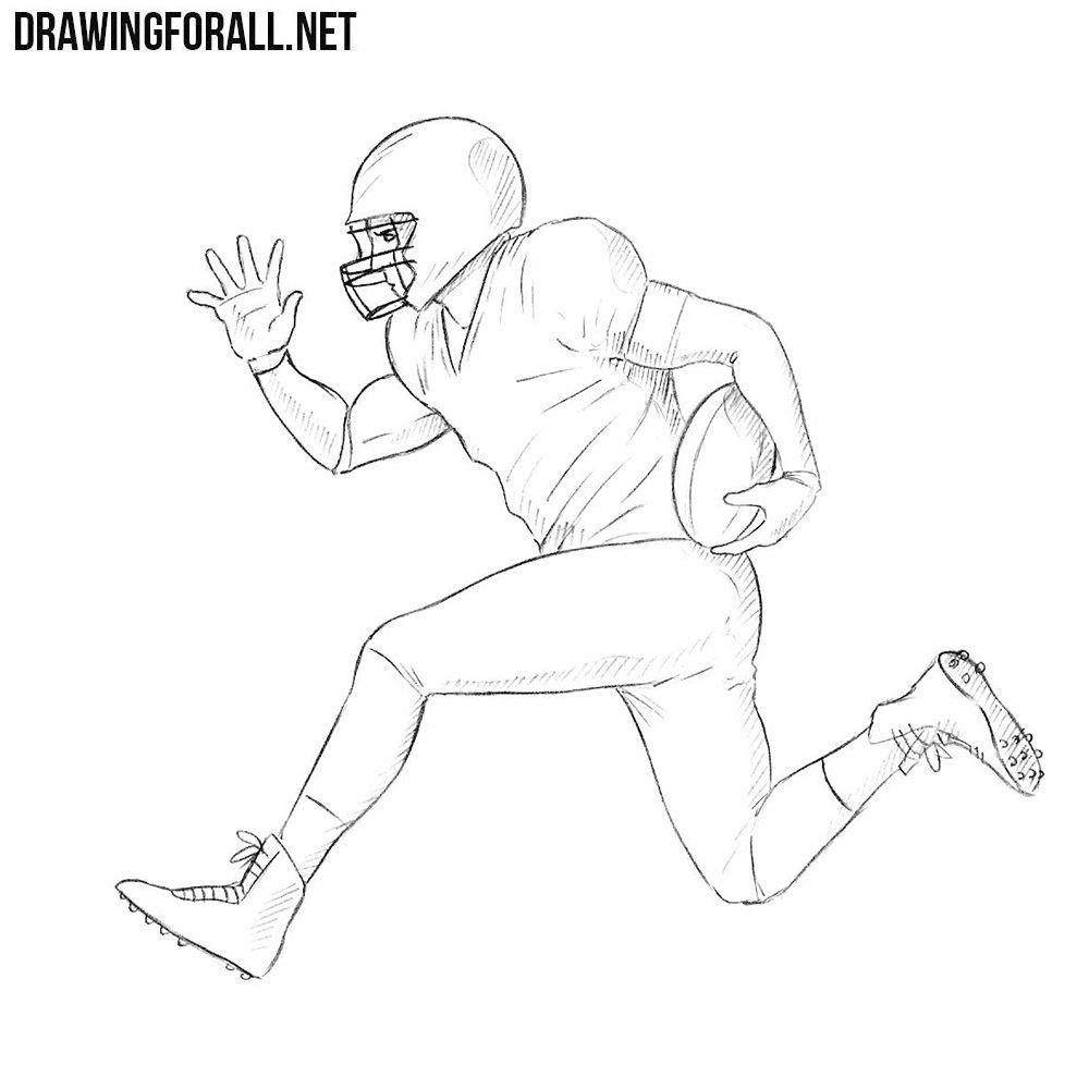 football player drawing steps football drawing easy at getdrawings free download football drawing player steps