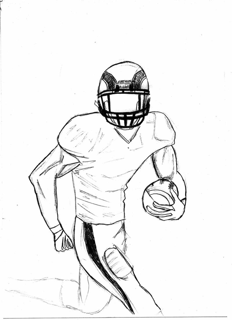 football player drawing steps football or soccer player motion sketch studies football drawing steps player