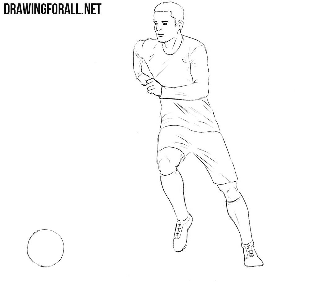 football player drawing steps how to draw a football player easy step by step drawing football steps player