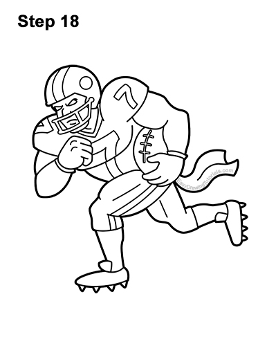 football player drawing steps how to draw a football player sketchbooknationcom football player steps drawing