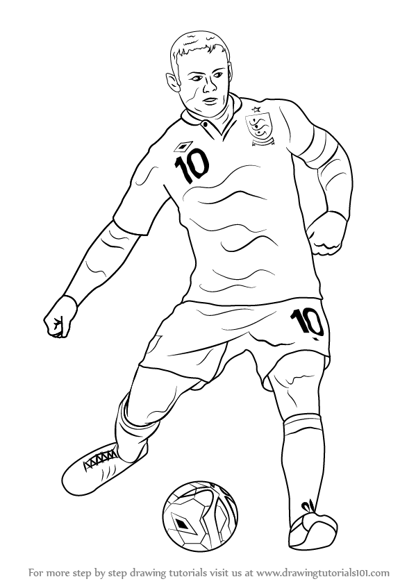 football player drawing steps how to draw a footballer children39s books the guardian steps drawing player football