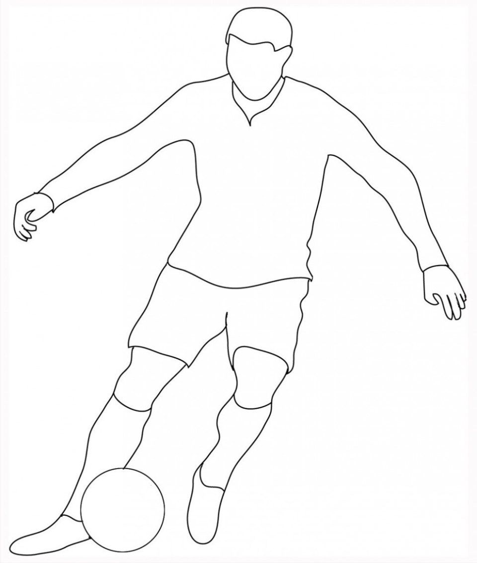 football player drawing steps how to draw a soccer player video step by step pictures player steps drawing football