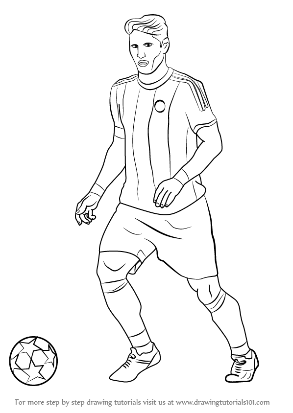 football player drawing steps learn how to draw memphis depay footballers step by step football player drawing steps