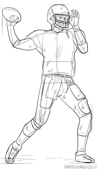 football player drawing steps misc player drawing football steps