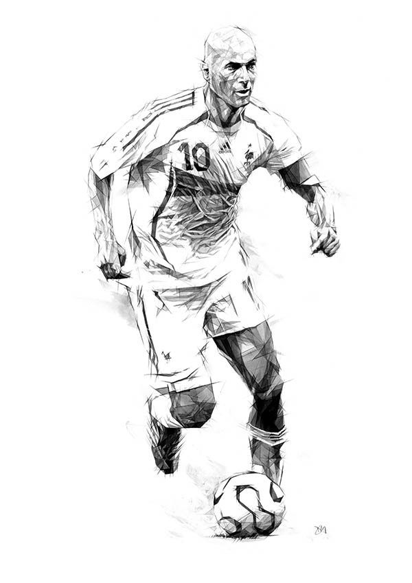football player drawing steps soccer ball cartoon drawing at getdrawingscom free for steps drawing player football