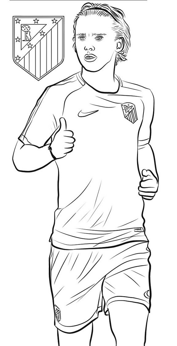 football players coloring pages antoine griezmann soccer football player coloring page pages football coloring players