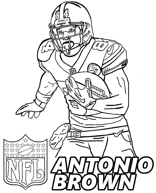 football players coloring pages antonio brown top nfl player portrait to color for free players coloring pages football