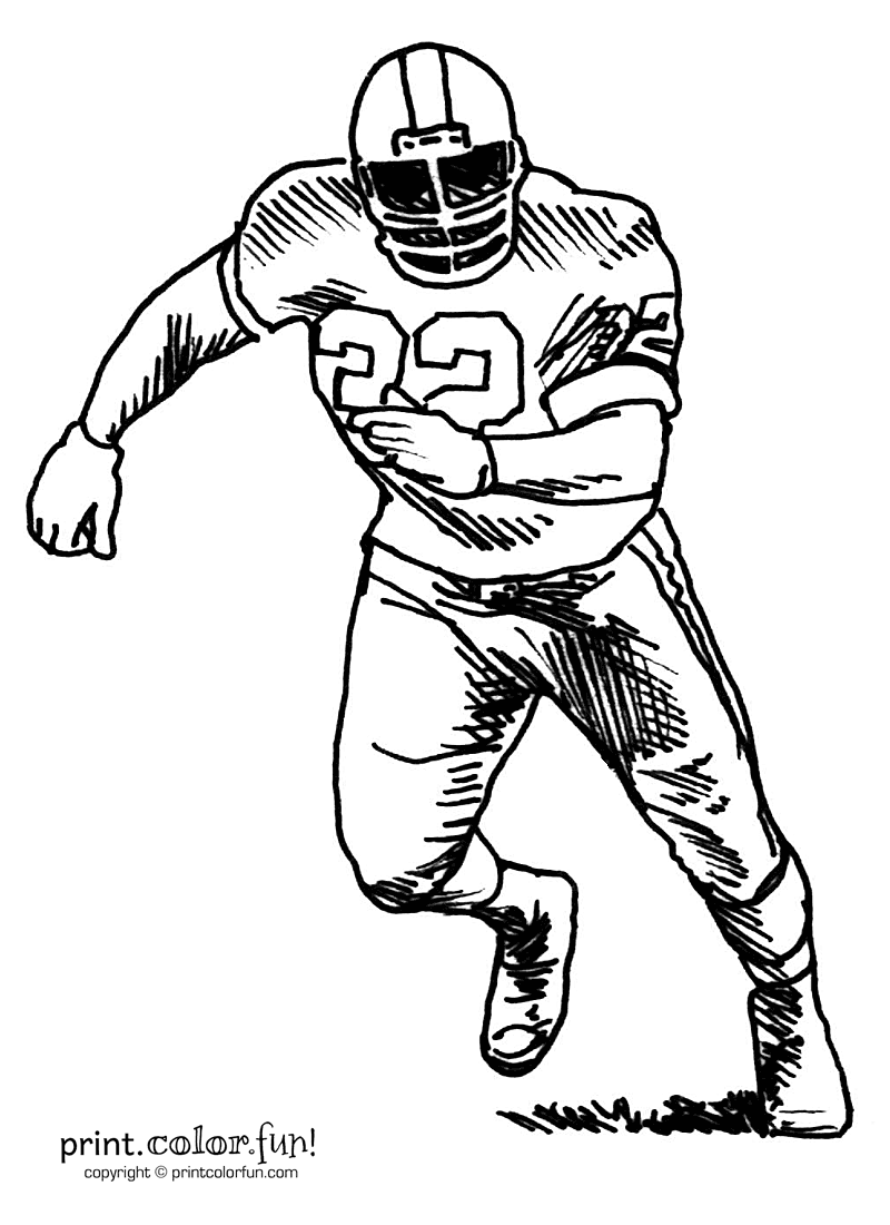 football players coloring pages football kicker coloring pages learny kids pages players coloring football