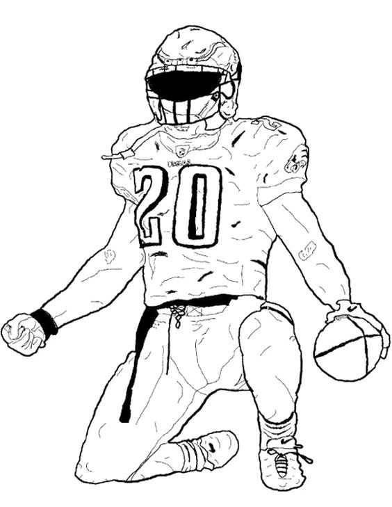 football players coloring pages football player bending the foot coloring page kids football players pages coloring