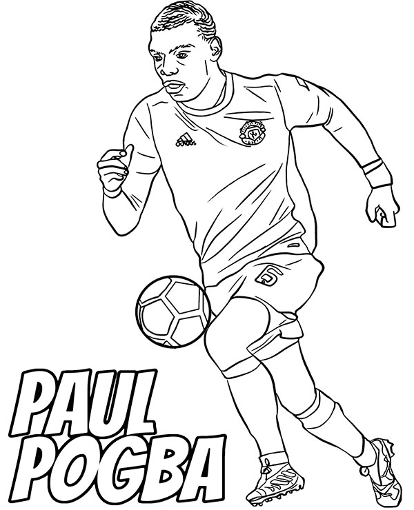 football players coloring pages paul pogba coloring page with football players for free pages football players coloring