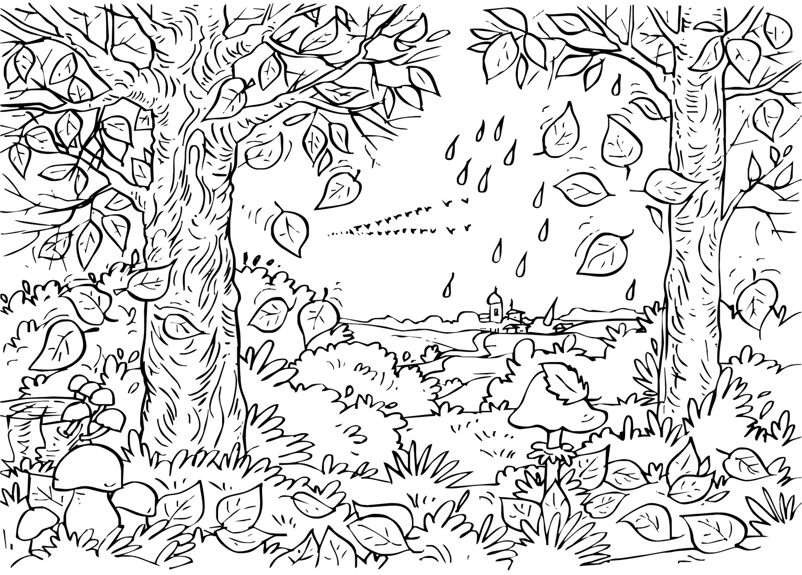 forest coloring page forest 32 nature printable coloring pages forest coloring page