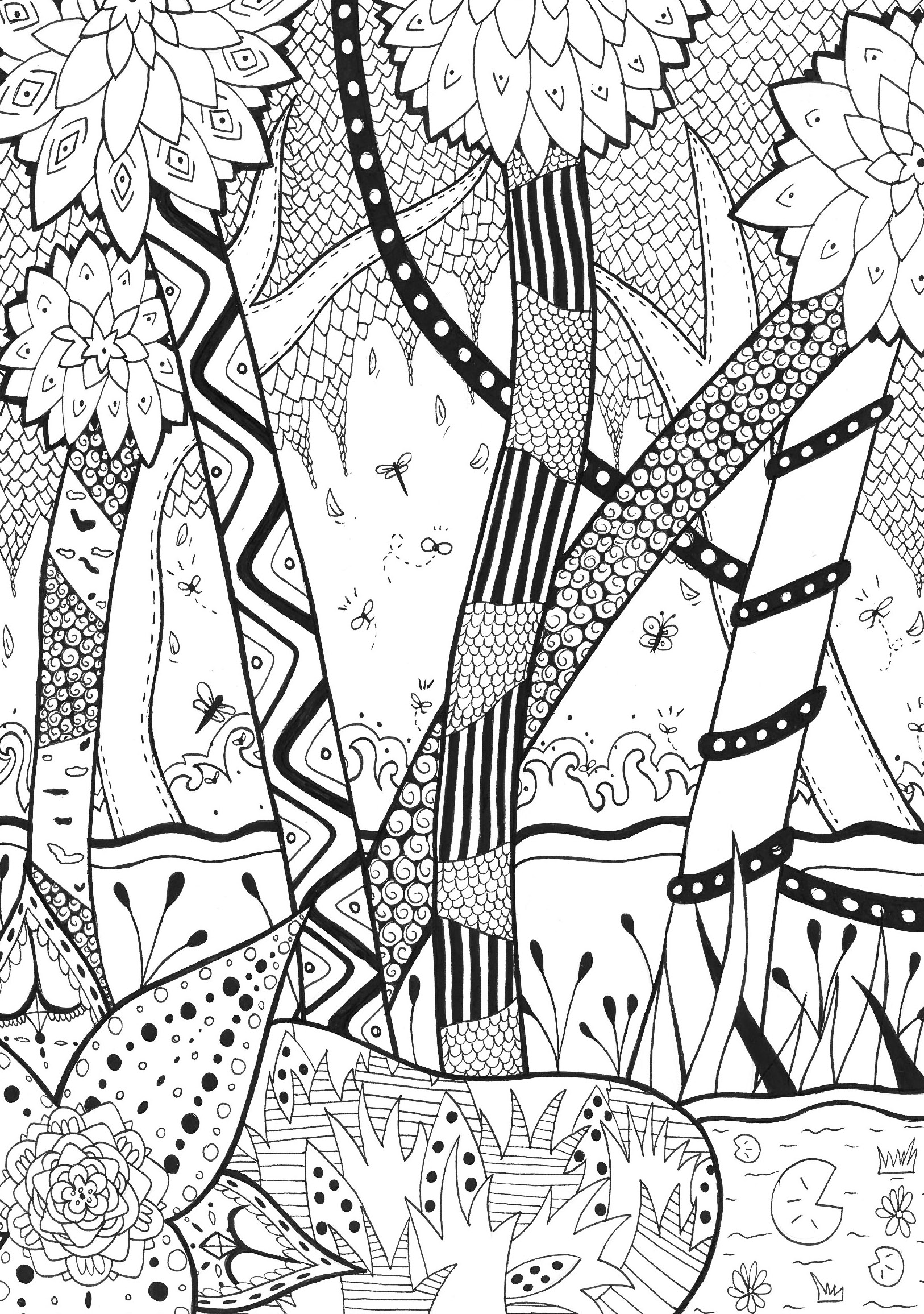 forest coloring page jungle forest coloring pages for adults coloring coloring forest page