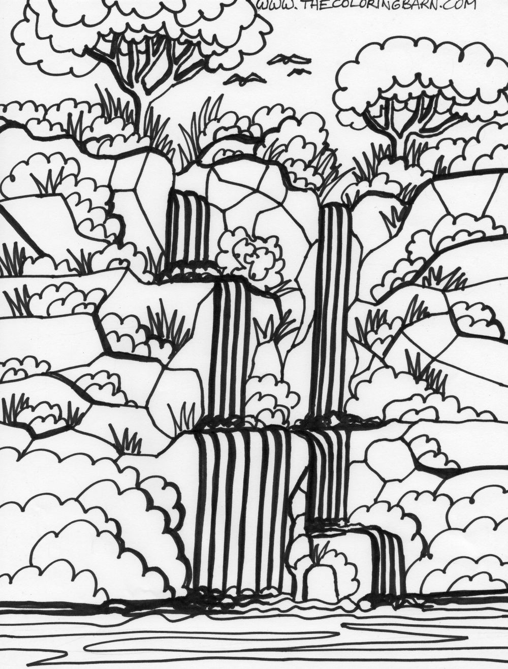 forest coloring page landscapes coloring pages coloring forest page