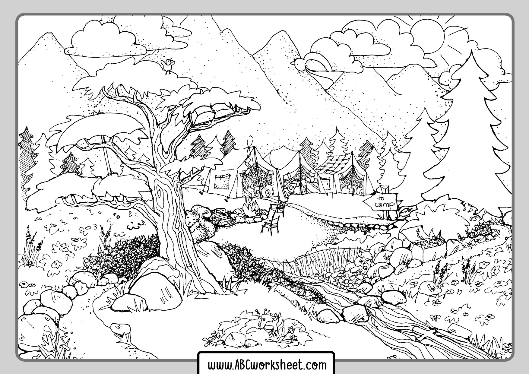 forest coloring page winter forest coloring pages to download and print for free forest page coloring
